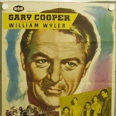 Cine: IE05 LA GRAN PRUEBA GARY COOPER WILLIAM WYLER POSTER ORIGINAL ESTRENO 70X100. Lote 13417272