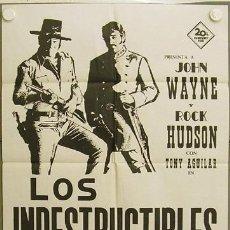 Cine: IE06 LOS INDESTRUCTIBLES JOHN WAYNE ROCK HUDSON POSTER ORIGINAL ESPAÑOL 70X100. Lote 13417403