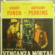 Cine: IE44 CAZADOR DE FORAJIDOS ANTHONY MANN HENRY FONDA PERKINS POSTER ORIG 75X110 ARGENTINO LITOGRAFIA. Lote 13432493