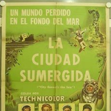 Cine: YZ51D CITY BENEATH THE SEA ROBERT RYAN MALA POWERS SUBMARINISMO POSTER 75X110 ARGENTINO LITOGRAFIA. Lote 13482466