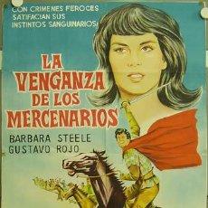 Cine: IF67 BARBARA STEELE GUSTAVO ROJO IL CAPITANO DI FERRO POSTER ORIGINAL 75X110 ARGENTINO LITOGRAFIA. Lote 13485144