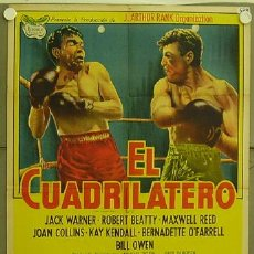 Cinema: YZ67D THE SQUARE RING JACK WARNER KAY KENDALL BOXEO POSTER ORIGINAL 75X110 ARGENTINO LITOGRAFIA. Lote 13485543