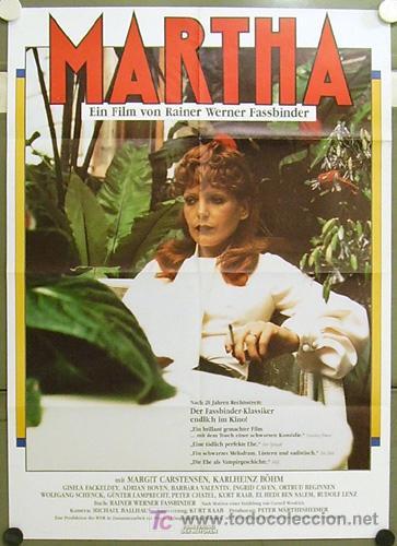 IG04 MARTHA RAINER WERNER FASSBINDER POSTER ORIGINAL ALEMAN 60X84 (Cine- Posters y Carteles - Drama)