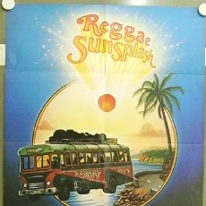Cine: IG09 REGGAE SUNSPLASH BOB MARLEY AND THE WAILERS THIRD WORLD BAND POSTER ORIGINAL ALEMAN 60X84. Lote 13495360