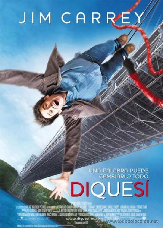 'DI QUE SÍ', CON JIM CARREY. TAMAÑO FOLIO. (Cine - Posters y Carteles - Comedia)