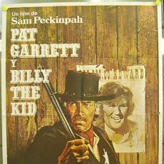 Cine: AQ62 PAT GARRETT Y BILLY THE KID SAM PECKINPAH BOB DYLAN POSTER ORIGINAL ESTRENO 70X100. Lote 13674408