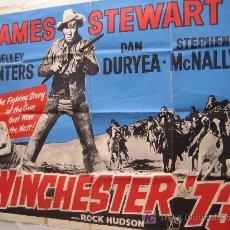 Cine: WINCHESTER 73 WESTERN - POSTER INGLES ORIGINAL DEL ESTRENO JAMES STEWART ANTHONY MANN. Lote 13699264