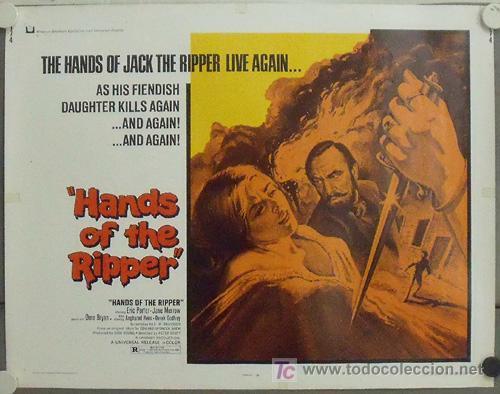 IL98 LAS MANOS DEL DESTRIPADOR HAMMER JIMMY SANGSTER POSTER ORIGINA USA 55X70 (Cine - Posters y Carteles - Terror)