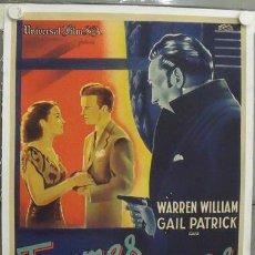 Cine: IM26D EL BESO REVELADOR WARREN WILLIAM JAMES WHALE POSTER ORIGINAL FRANCES 60X80 LITOGRAFIA ENTELADO. Lote 13715380
