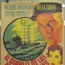 Cine: IM51 EL DIABLO DE LAS AGUAS TURBIAS RICHARD WIDMARK SOLIGO POSTER ORIGINAL 70X100 ESTRENO LITOGRAFIA. Lote 20490671