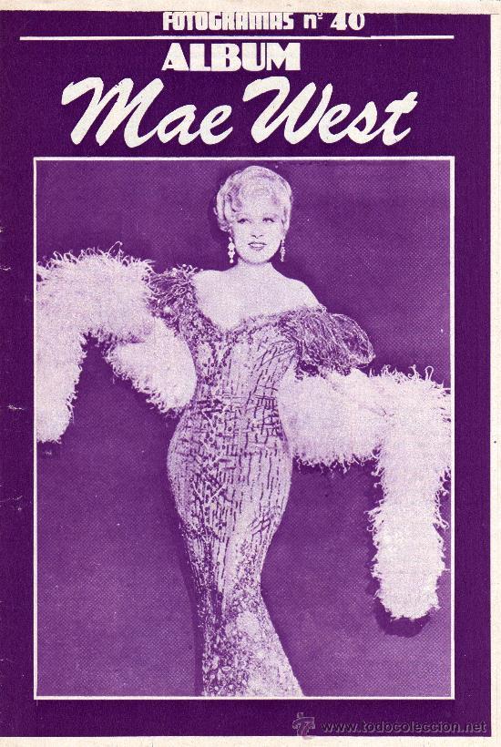 ALBUM FOTOGRAMAS Nº 40, MAE WEST (Cine - Posters y Carteles - Comedia)