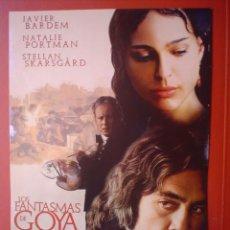 Cine: LOS FANTASMAS DE GOYA, MINIPOSTER DE CINE ORIGINAL FORMATO A4 APROX . Lote 13878779