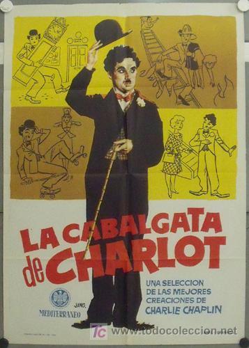 IP02 LA CABALGATA DE CHARLOT CHARLES CHAPLIN POSTER ORIGINAL ESTRENO 70X100 (Cine - Posters y Carteles - Comedia)