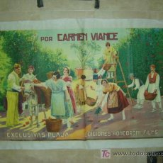 Cine: ROSA DE LEVANTE - CARMEN VIANCE - LITOGRAFIA - ILUSTRADOR: J. ESTREMS - AÑO 1926. Lote 26558287