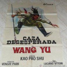 Cine: 3 CARTELES DE CINE - WANG YU EN CAZA DESESPERADA, GOLPE MORTAL Y LOS VENGADORES -. Lote 26489188