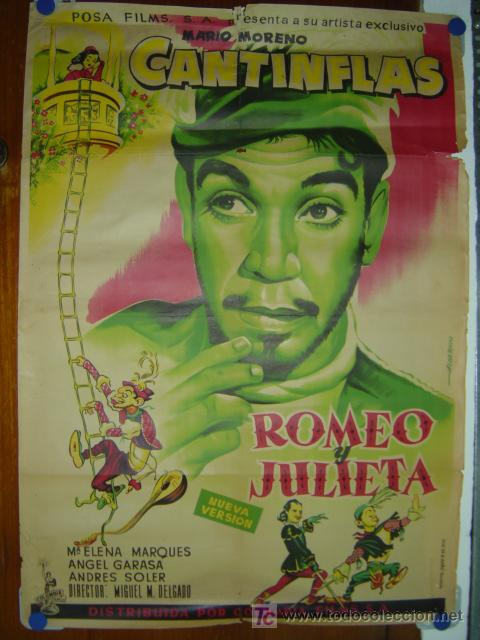 ROMEO Y JULIETA - CANTINFLAS - AÑO 1955 - LITOGRAFIA - ILUSTRADOR: ALBERICIO (Cine - Posters y Carteles - Comedia)