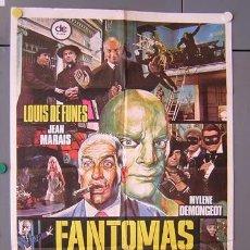 Cine: ER12 FANTOMAS VUELVE LOUIS DE FUNES JEAN MARAIS POSTER ORIGINAL 70X100 ESPAÑOL. Lote 106689186