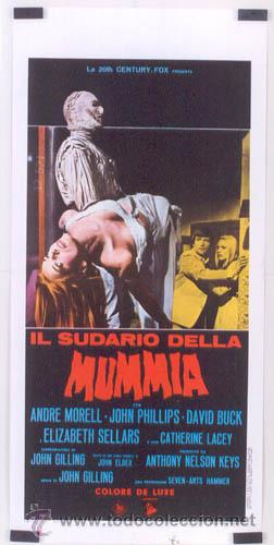 EX94 THE MUMMY'S SHROUD HAMMER JOHN GILLING POSTER ORIGINAL ITALIANO 33X70 (Cine - Posters y Carteles - Terror)