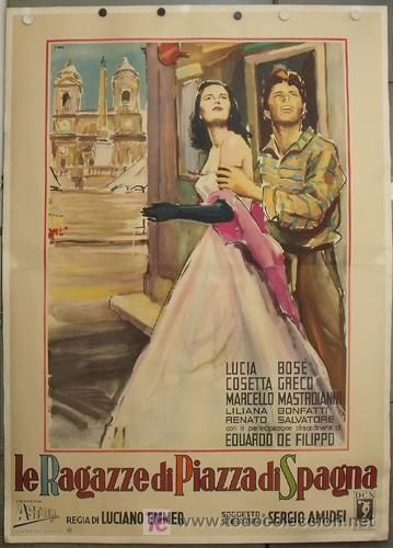 E1623D TRES ENAMORADAS LUCIA BOSE ESPECTACULAR BRINI POSTER ITALIANO 140X200 ENTELADO (Cine- Posters y Carteles - Drama)