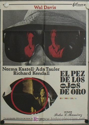 JN39 EL PEZ DE LOS OJOS DE ORO PEDRO LUIS RAMIREZ GIALLO POSTER ORIGINAL 70X100 ESTRENO (Cine - Posters y Carteles - Terror)