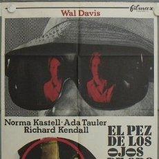 Cine: JN39 EL PEZ DE LOS OJOS DE ORO PEDRO LUIS RAMIREZ GIALLO POSTER ORIGINAL 70X100 ESTRENO. Lote 14992098