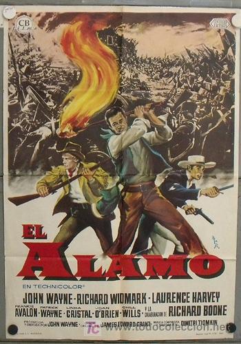 JN67 EL ALAMO JOHN WAYNE RICHARD WIDMARK MCP POSTER ORIGINAL 70X100 ESTRENO (Cine - Posters y Carteles - Westerns)