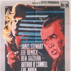 Cine: JO21 ANATOMIA DE UN ASESINATO JAMES STEWART OTTO PREMINGER POSTER ORIGINAL ITALIANO 100X140. Lote 15047674