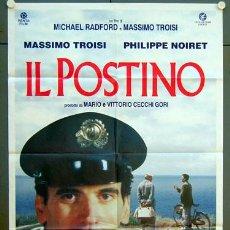 Cine: JO24 EL CARTERO Y PABLO NERUDA IL POSTINO POSTER ORIGINAL 100X140 ITALIANO. Lote 15048346