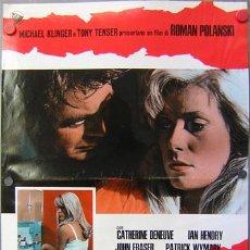 Cine: JO27 REPULSION ROMAN POLANSKI CATHERINE DENEUVE SET 10 POSTERS ORIGINAL ITALIANO 47X68. Lote 20049820