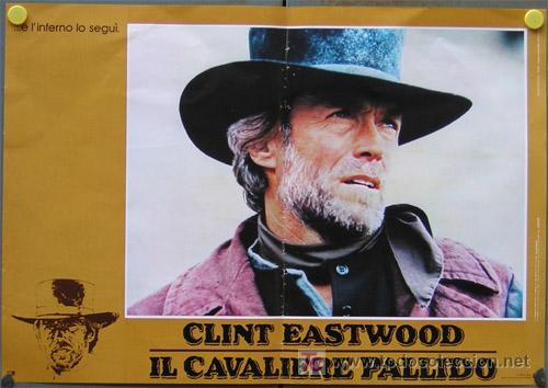 JO33 EL JINETE PALIDO CLINT EASTWOOD SET 4 POSTERS ORIGINAL ITALIANO 47X68 (Cine - Posters y Carteles - Westerns)