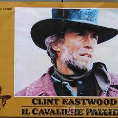 Cine: JO33 EL JINETE PALIDO CLINT EASTWOOD SET 4 POSTERS ORIGINAL ITALIANO 47X68. Lote 15049021