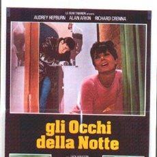 Cine: JO47 SOLA EN LA OSCURIDAD AUDREY HEPBURN POSTER ORIGINAL ITALIANO 68X94 B. Lote 15049472
