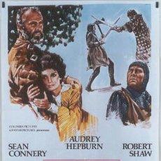 Cine: JO40 LA GRAN AVENTURA DE ROBIN Y MARIAN AUDREY HEPBURN SEAN CONNERY POSTER ORIGINAL 100X140 ITALIANO. Lote 15049733