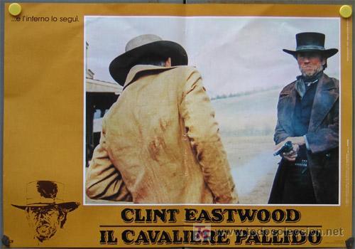 Cine: JO33 EL JINETE PALIDO CLINT EASTWOOD SET 4 POSTERS ORIGINAL ITALIANO 47X68 - Foto 2 - 15049021