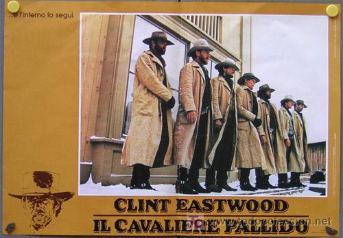 Cine: JO33 EL JINETE PALIDO CLINT EASTWOOD SET 4 POSTERS ORIGINAL ITALIANO 47X68 - Foto 3 - 15049021