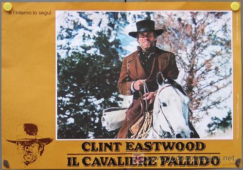 Cine: JO33 EL JINETE PALIDO CLINT EASTWOOD SET 4 POSTERS ORIGINAL ITALIANO 47X68 - Foto 4 - 15049021