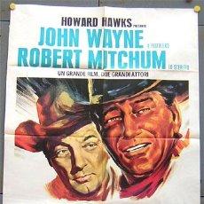 Cine: QQ99 EL DORADO JOHN WAYNE HOWARD HAWKS ROBERT MITCHUM POSTER ITALIANO 100X140. Lote 15061667