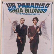 Cine: QA25 BILLAR UN PARADISO SENZA BILIARDO POSTER ORIGINAL 100X140 ITALIANO. Lote 15062031