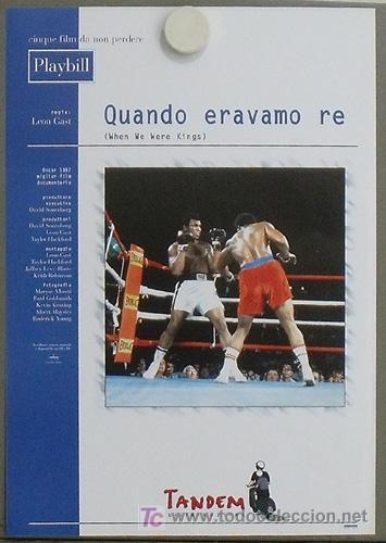 JO69 WHEN WE WERE KINGS MUHAMMAD ALI CASSIUS CLAY BOXEO POSTER ORIGINAL ITALIANO 30X43 (Cine - Posters y Carteles - Deportes)