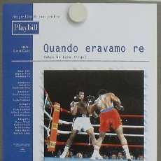 Cine: JO69 WHEN WE WERE KINGS MUHAMMAD ALI CASSIUS CLAY BOXEO POSTER ORIGINAL ITALIANO 30X43. Lote 15062404
