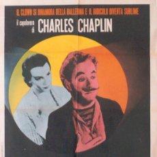 Cine: JO81 CANDILEJAS CHARLES CHAPLIN POSTER ORIGINAL ITALIANO 100X140. Lote 15064284