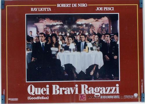 Cine: JO59 UNO DE LOS NUESTROS ROBERT DE NIRO MARTIN SCORSESE JOE PESCI SET DE 8 POSTER ITALIANOS 47X68 - Foto 7 - 15060846