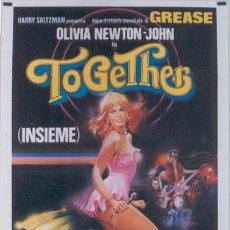 Cine: JP25 TOOMORROW TOOMORROW OLIVIA NEWTON-JOHN POSTER ORIGINAL 100X140 ITALIANO. Lote 15093881