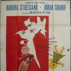 Cine: JP59 FUNNY GIRL BARBRA STREISAND POSTER GIGANTE ORIGINAL 140X200 ITALIANO A. Lote 15131971