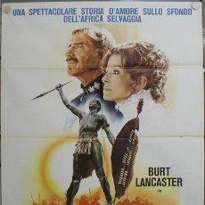Cine: JP65 AMANECER ZULU BURT LANCASTER PETER O'TOOLE POSTER ORIGINAL ITALIANO 100X140. Lote 15133017