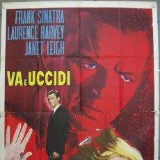 Cine: JP83D EL MENSAJERO DEL MIEDO FRANK SINATRA LAURENCE HARVEY LEIGH POSTER ORIGINAL 140X200 ITALIANO. Lote 20114934
