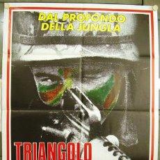 Cine: JP88 EL TRIANGULO DE ACERO JOHNNY HALLYDAY BEAU BRIDGES POSTER ORIGINAL ITALIANO 100X140. Lote 15136462
