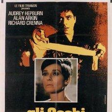 Cine: JQ08 SOLA EN LA OSCURIDAD AUDREY HEPBURN POSTER ORIGINAL 100X140 ITALIANO. Lote 15145546