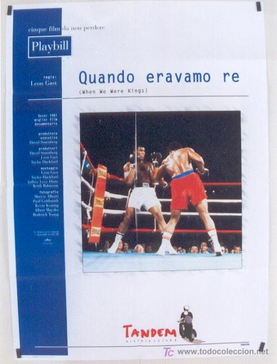 JQ11 WHEN WE WERE KINGS MUHAMMAD ALI CASSIUS CLAY BOXEO POSTER ORIGINAL ITALIANO 100X140 (Cine - Posters y Carteles - Deportes)