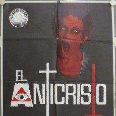 Cine: JQ36 EL ANTICRISTO ALBERTO DE MARTINO TERROR POSTER ORIGINAL ESTRENO 70X100. Lote 15164564